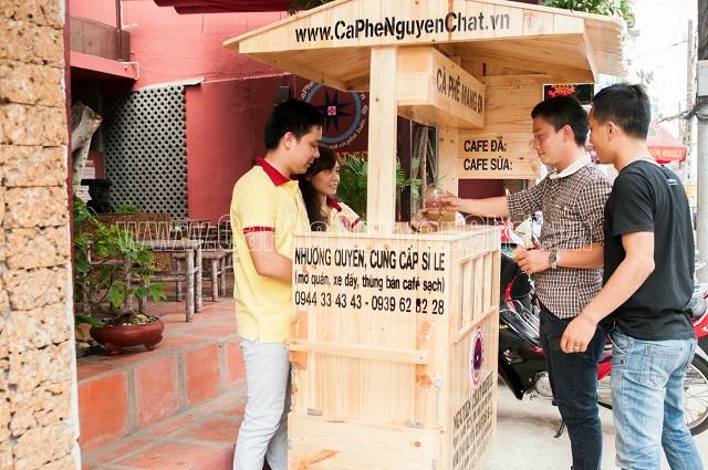 Xe gỗ phục vụ Cafe Take Away lưu động