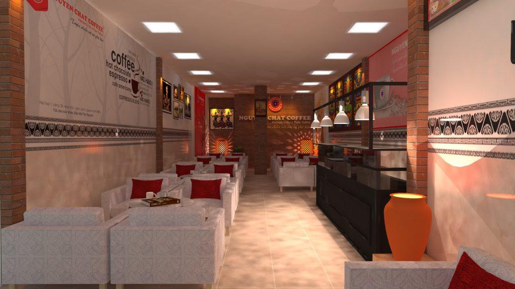 Thi công quán cafe thiết kế mới