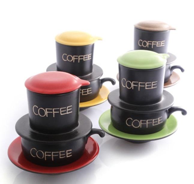 Phin pha cafe gốm Bát Tràng