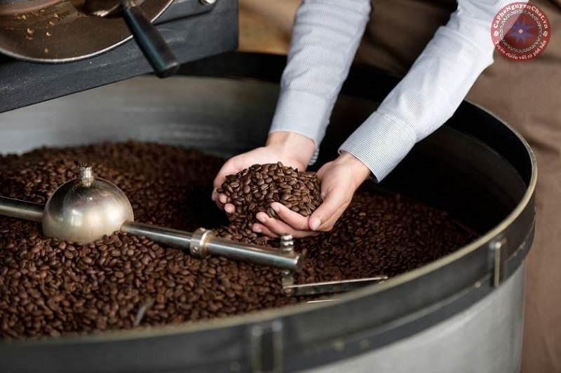 quy trình rang cà phê rang xay