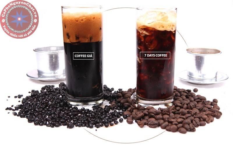 cafe nguyên chất ví dụ thật giả