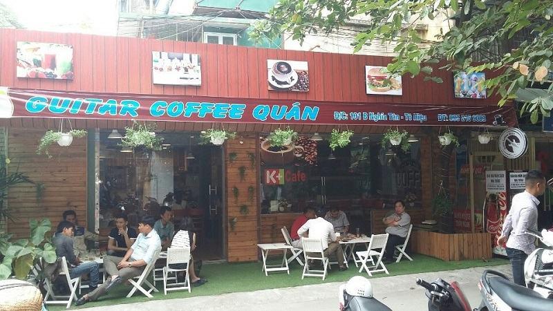 thiết kế quán cà phê guitar