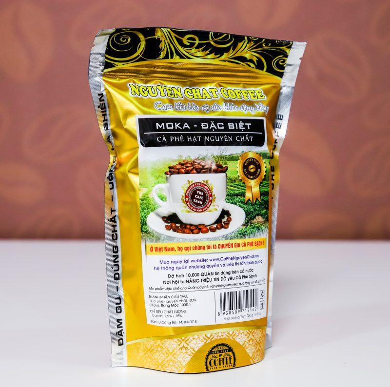 Cà phê nguyên chất Hạt MOKA (đặc biệt)