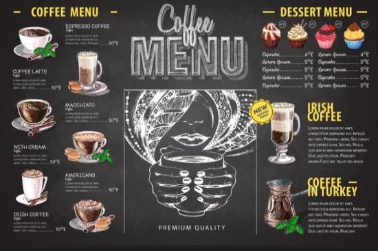 Menu đồ uống hấp dẫn sẽ thu hút khách hàng