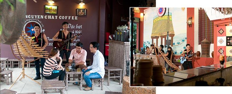 Trang trí quán cafe mang phong cách Tây Nguyên độc đáo của Nguyen Chat Coffee